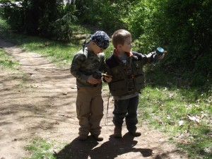 kids geocaching