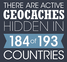 geocaches by country graphic