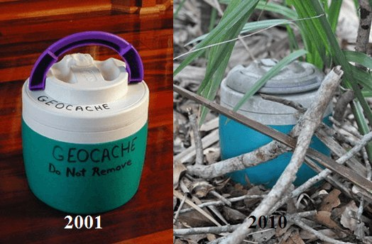 geocache then and now
