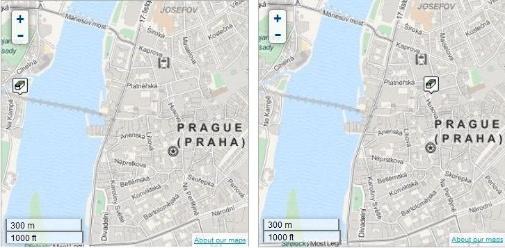 Prague bridges geocache (left) Terekza geocache (right) both found more than 12,400 times