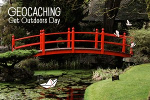 The official Geocaching Get Outdoors Day souvenir.