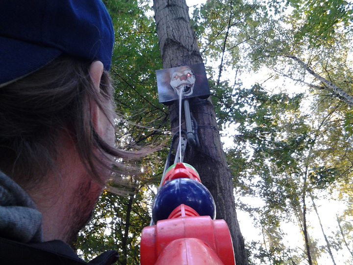 One of the geocache creators trying his luck. Photo courtesy of geocacher Paladium_