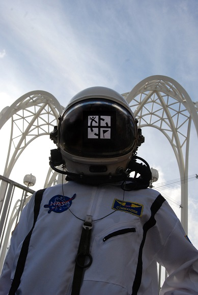 Geocaching in Space Astronaut
