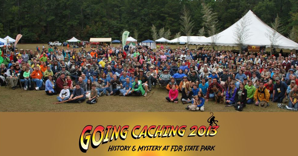 The full crew from the Going Caching 2013 Mega-Event.