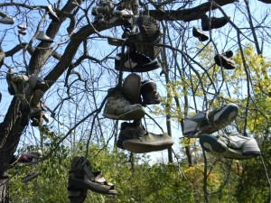 Walking a mile in these shoes may prove to be difficult. Photo by geocacher TomEagle55