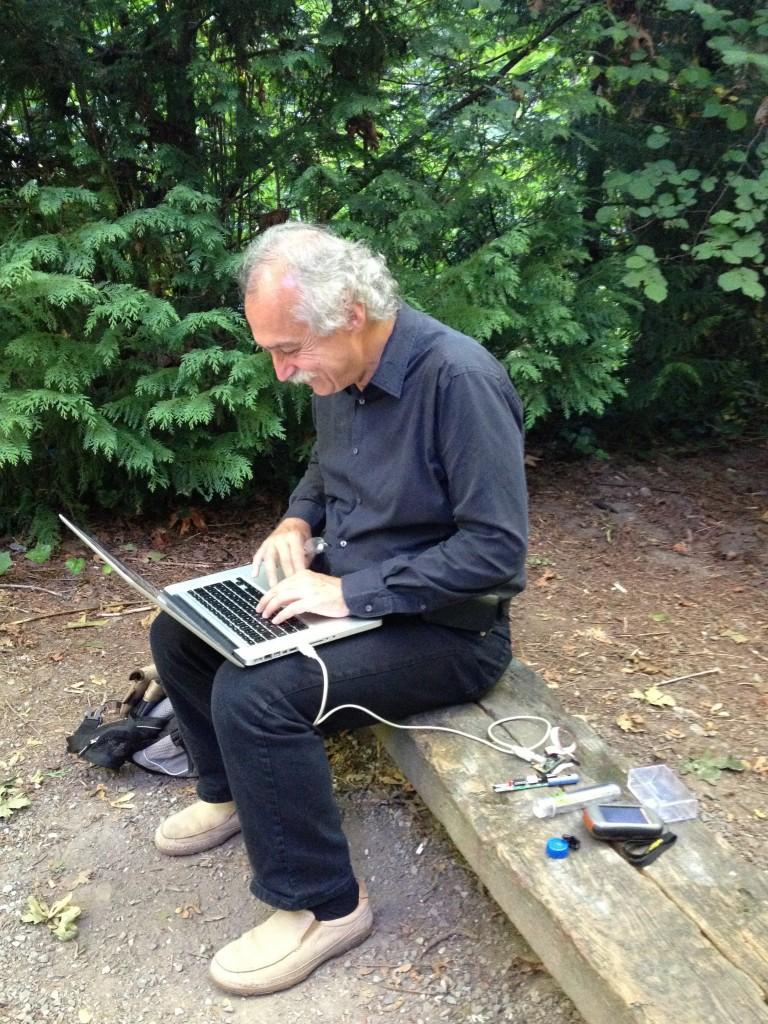 "Fogg working on ""Geocache on the Rocks"""