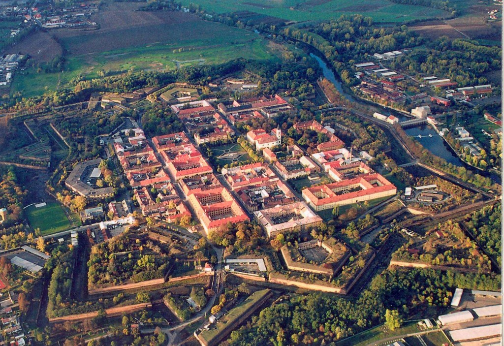 Aerial view of Terezin