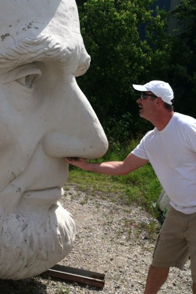 Not even Abe 'nose' what you're looking for. Photo by geocacher Scorpios2931