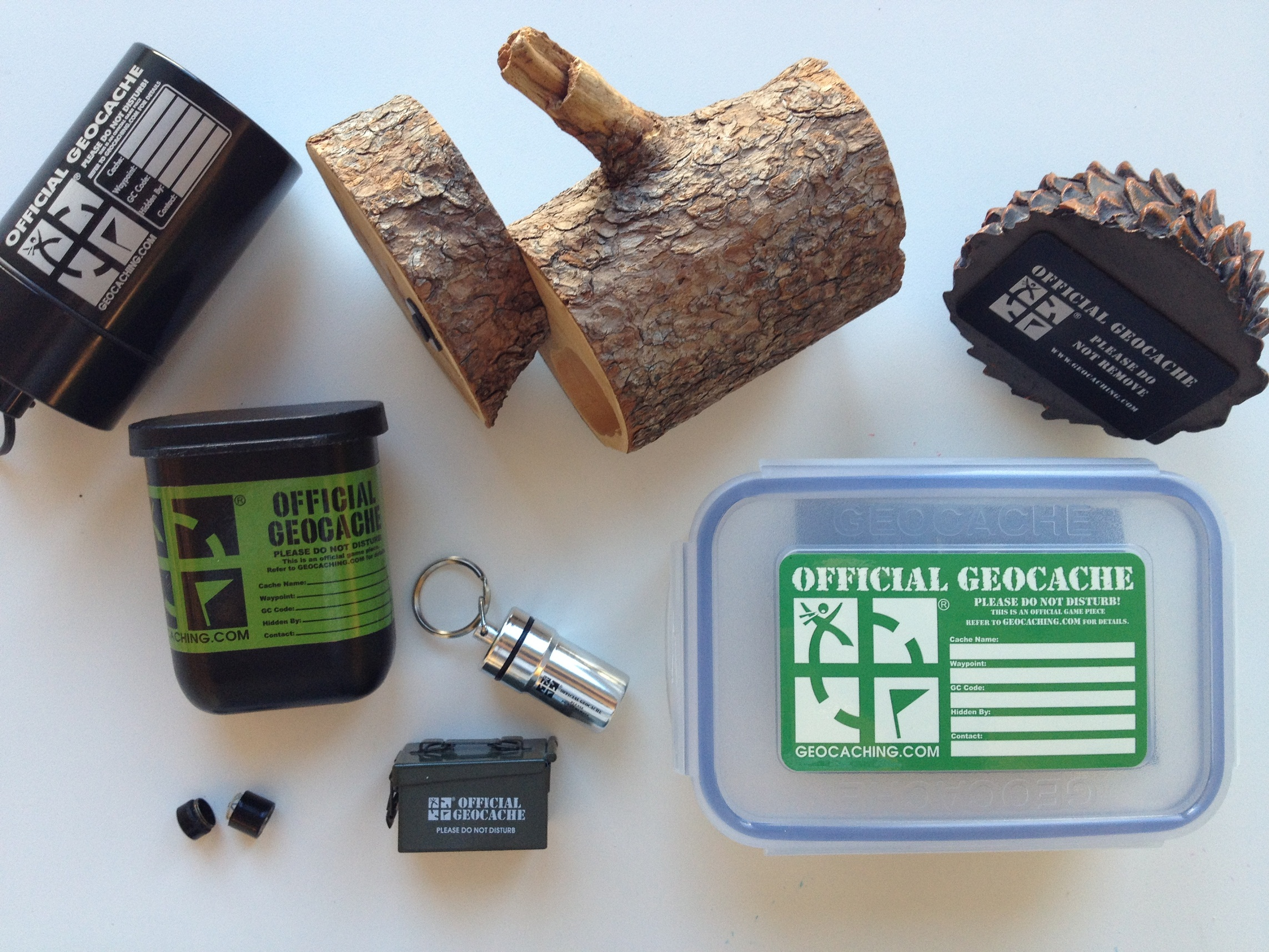 Not all of these containers we specifically developed as geocaches.