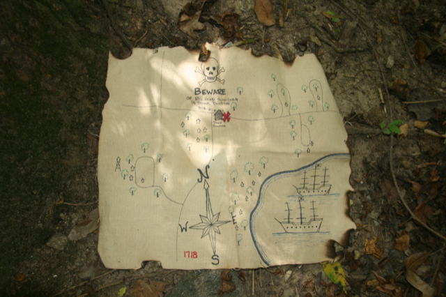 Follow the map to the treasure.  Photo courtesy of Woodnutt