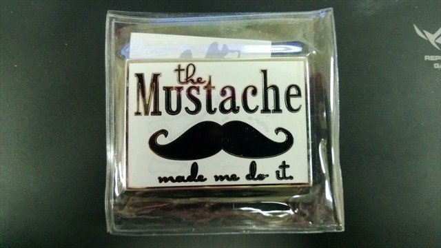 """TB5XQY3 """"the Mustache made me do it"""" traveled 3,392 miles before finally landing on the upper lip of its owner."""