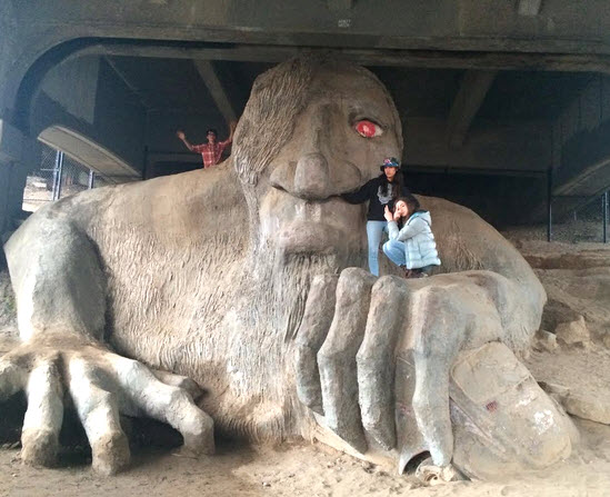 The Fremont Troll is a beloved Seattle Landmark and part of the Geocaching HQ GeoTour.