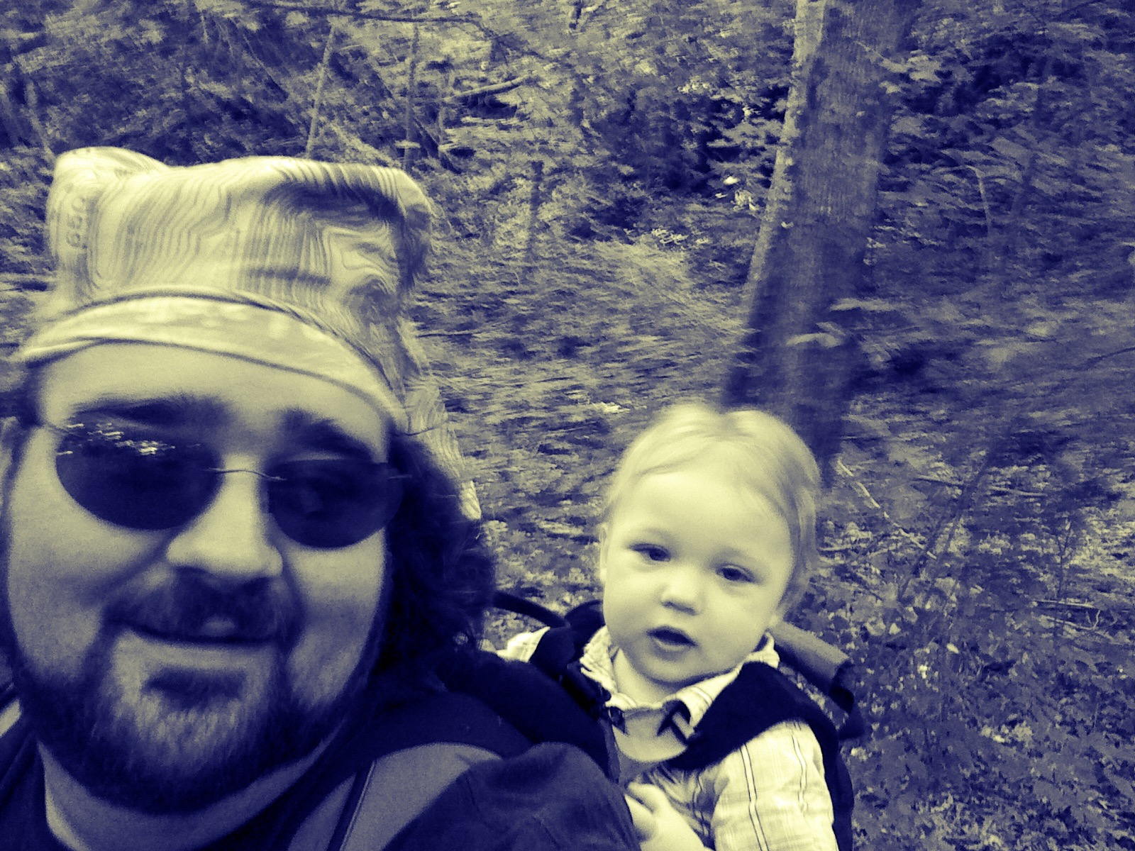 Hiking to one of the oldest caches in TN with my son, Liam