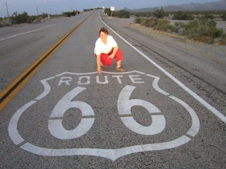 GC2J17A - 001-Route 66. The first of 800 caches along the Route 66 power trail from Barstow,CA to Needles, AZ.