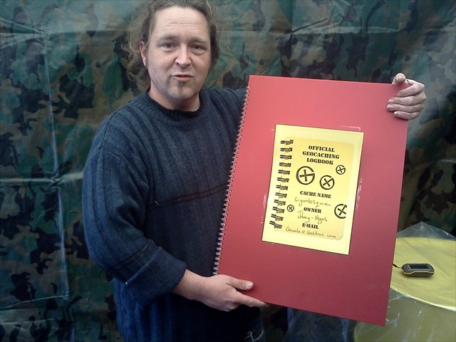 A giant logbook to match the cache. Photo by geocacher C2iC
