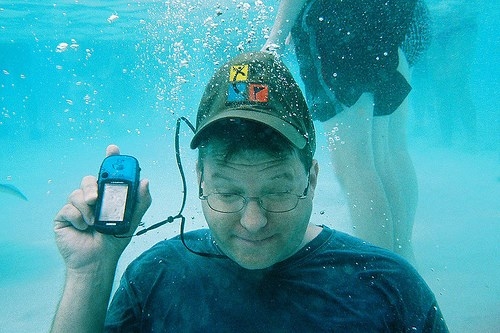 Taking the extreme plunge: underwater geocaching