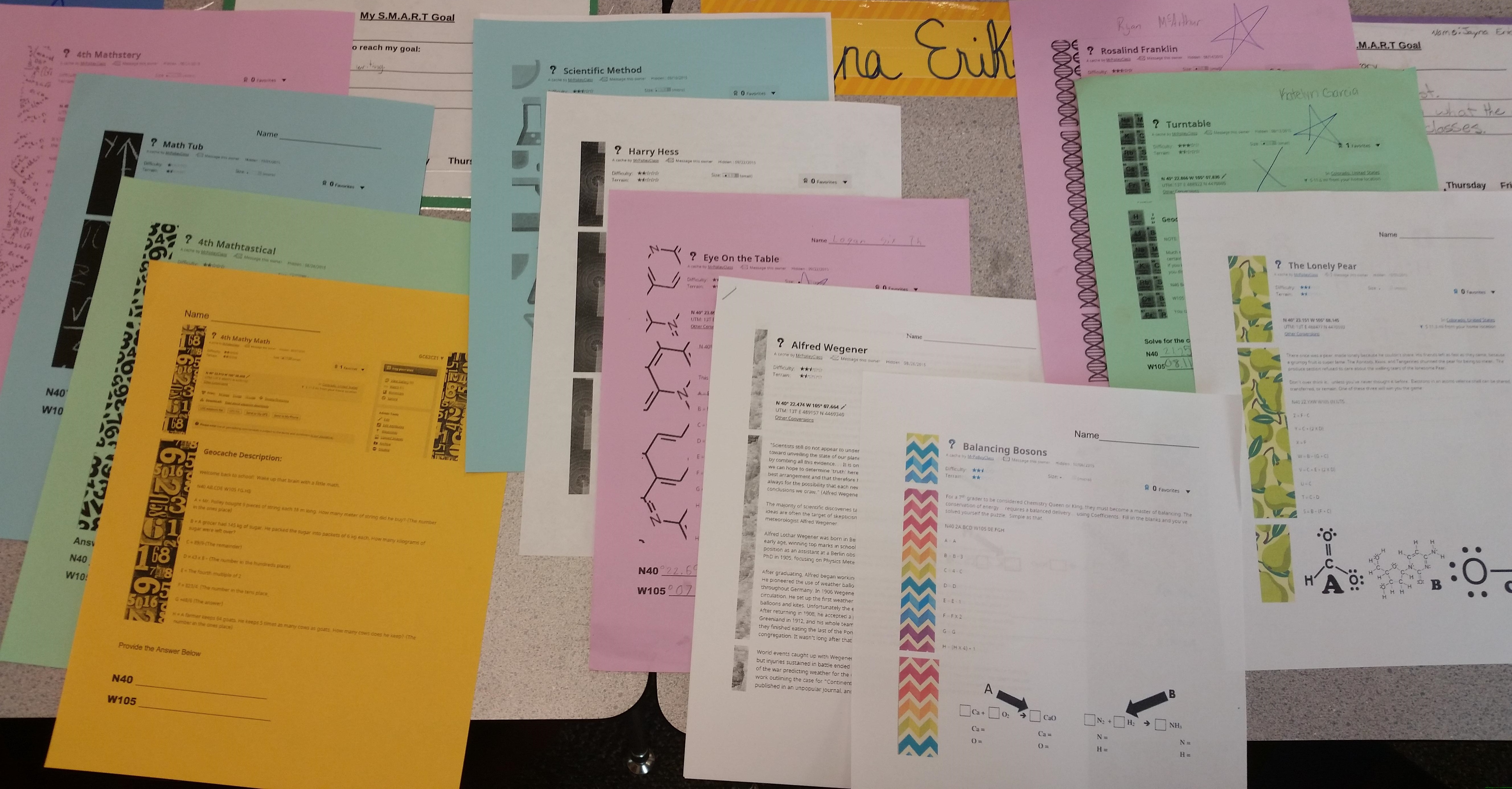 mystery caches printout