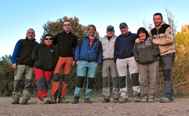 An intrepid geocaching team at the start of their journey.