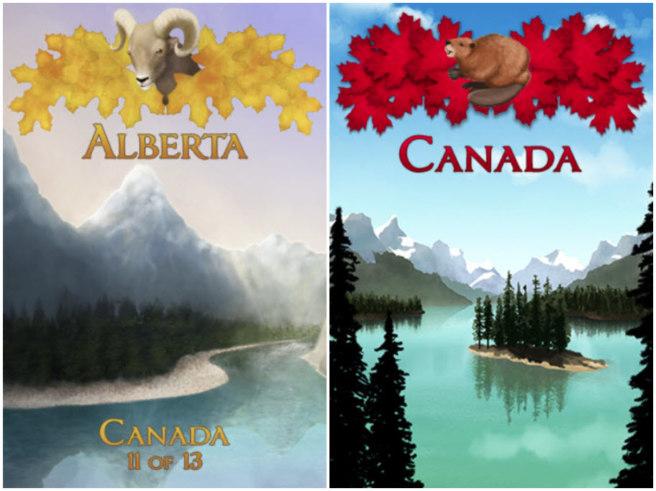 Alberta province souvenir and Canada souvenir
