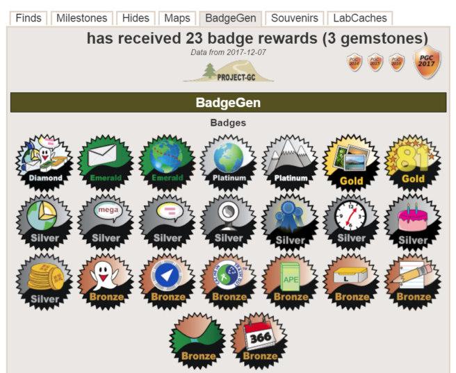 Geocaching badge from BadgeGen