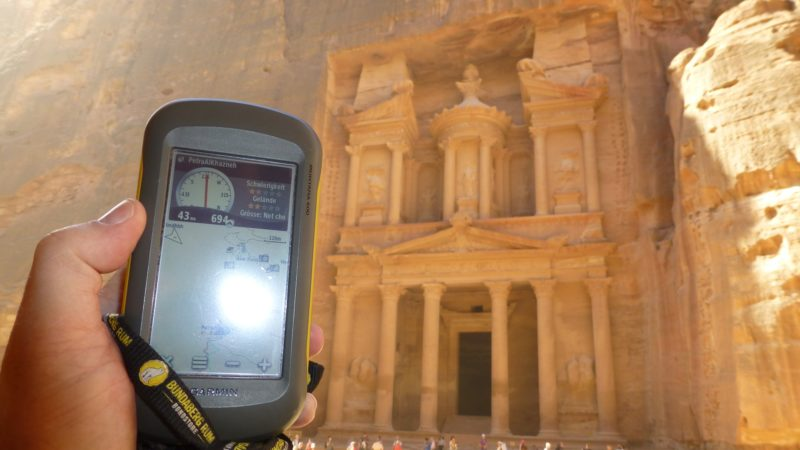 A GPS and the EarthCache, Petra Al Khazneh