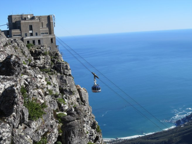 Cable cars take you from bottom to top, then back down again
