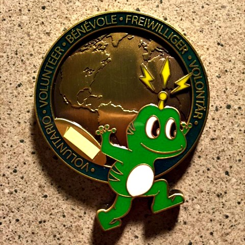 The Froggy GeoCoin when it was brand new