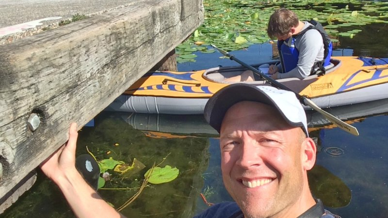 Geocaching on the water