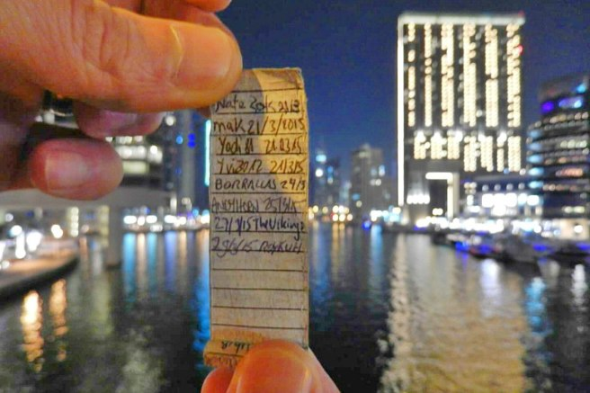 Find a cache at 11:30 PM and then find another one at 12:00 AM the next day. Clever!