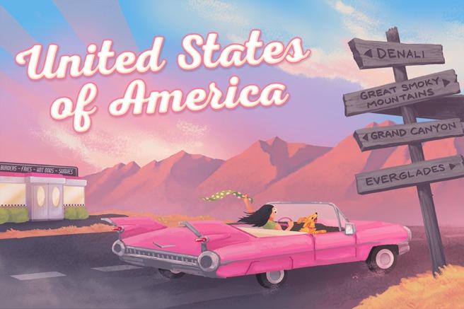 USA Geocaching country souvenir