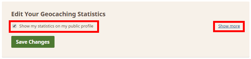 Edit Your Geocaching Statistics