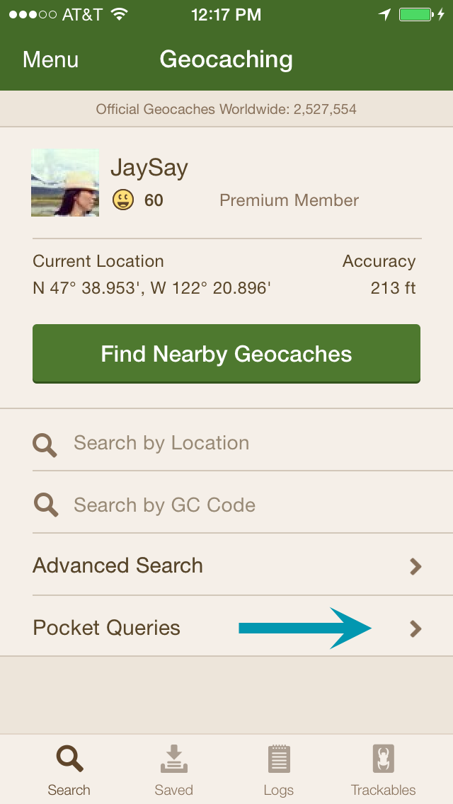how to delete images from a geocache listing