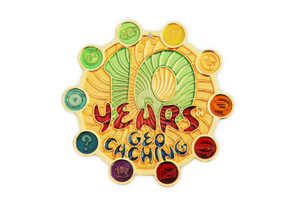 10 Years Geocaching Coin