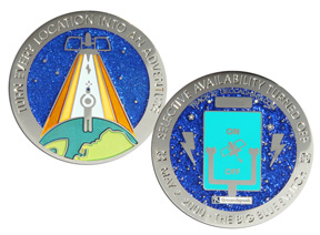 Blue Switch Geocoin