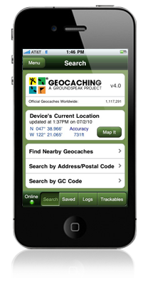 geocaching app for android