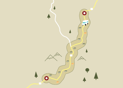 Trip Planner - Find caches along your travel route.