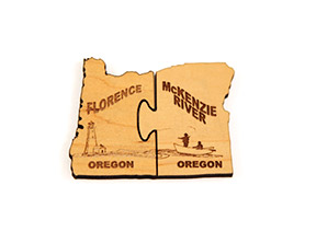 Florence and McKenzie River Oregon Geocoin